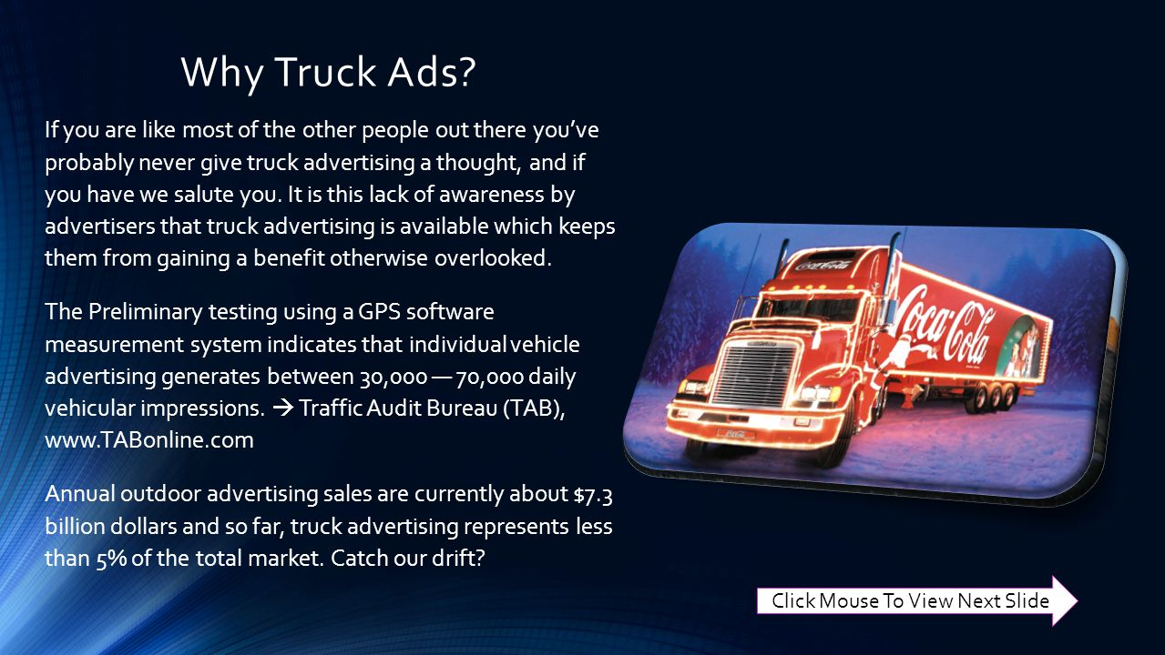 Why Truck Ads.