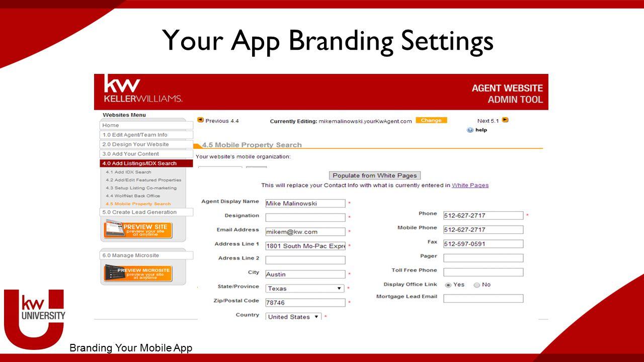 Your App Branding Settings Branding Your Mobile App