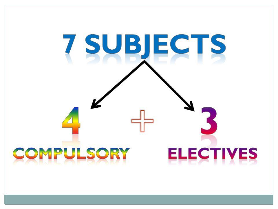 1. English Home Language 2. Mathematics 3. Life Orientation 4. First Additional Language