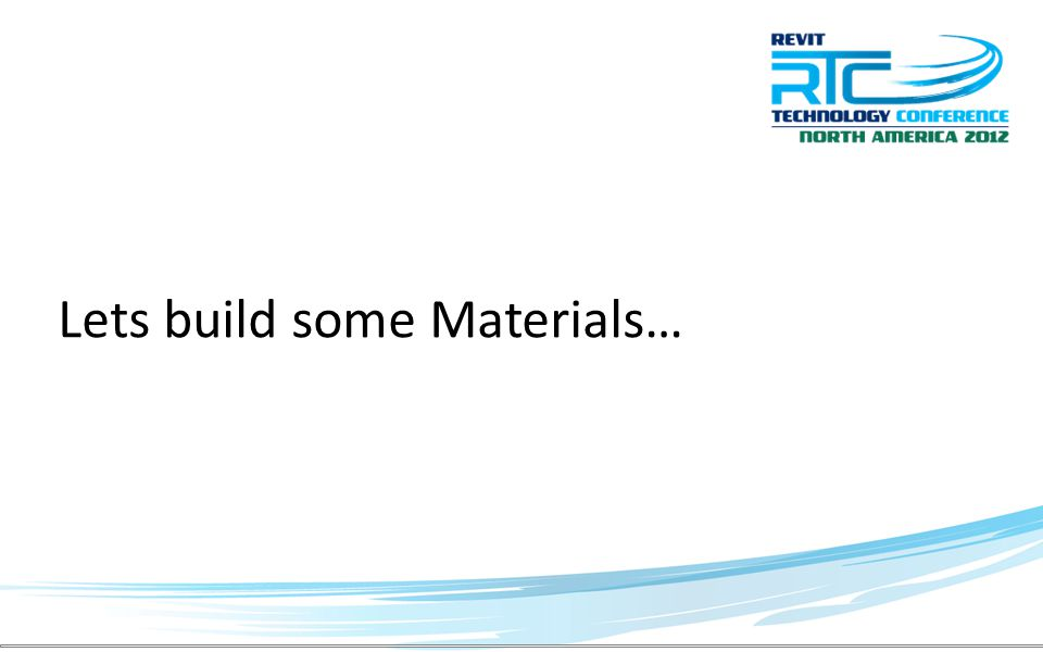 Lets build some Materials…