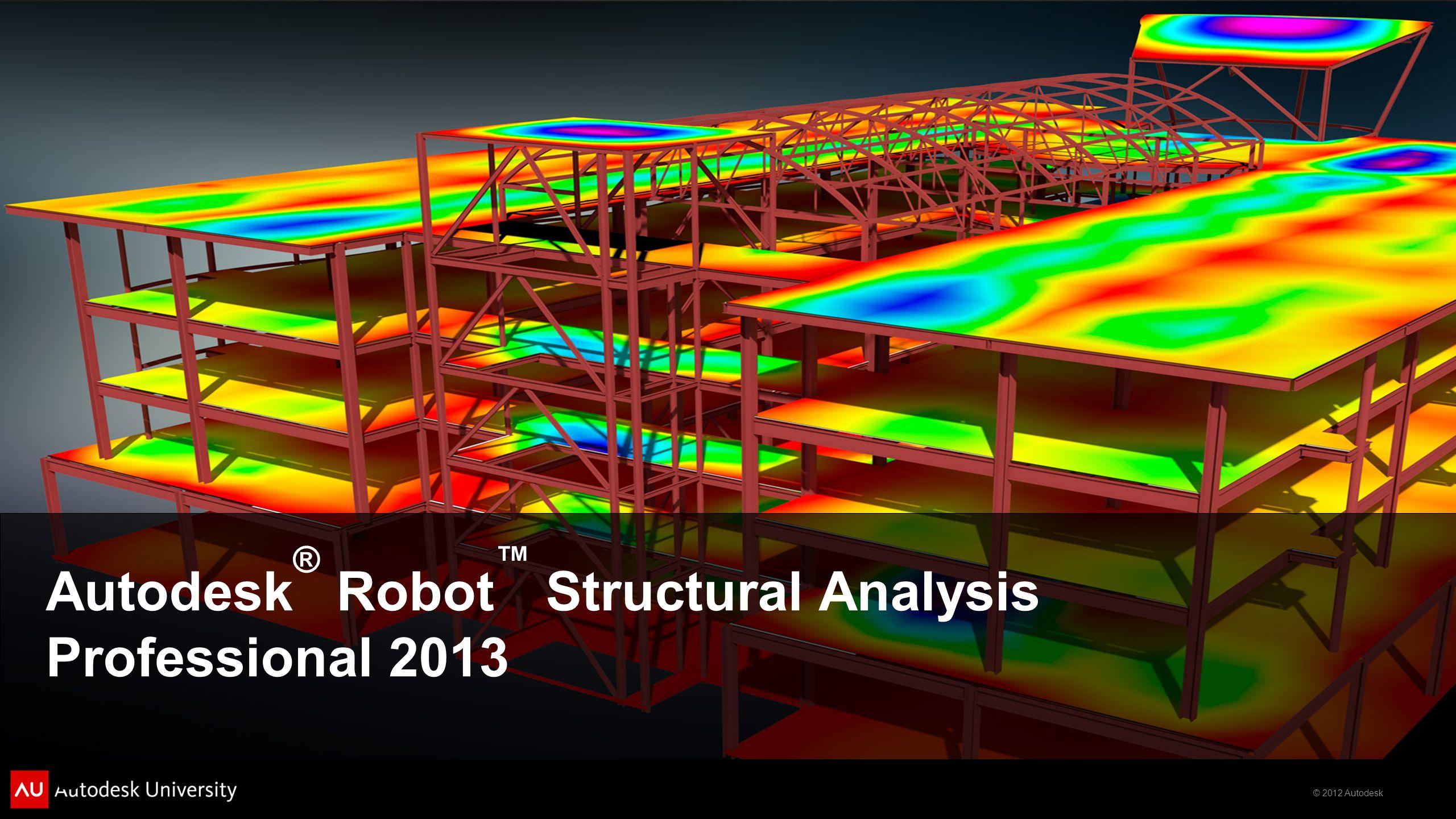 © 2012 Autodesk Autodesk ® Robot ™ Structural Analysis Professional 2013