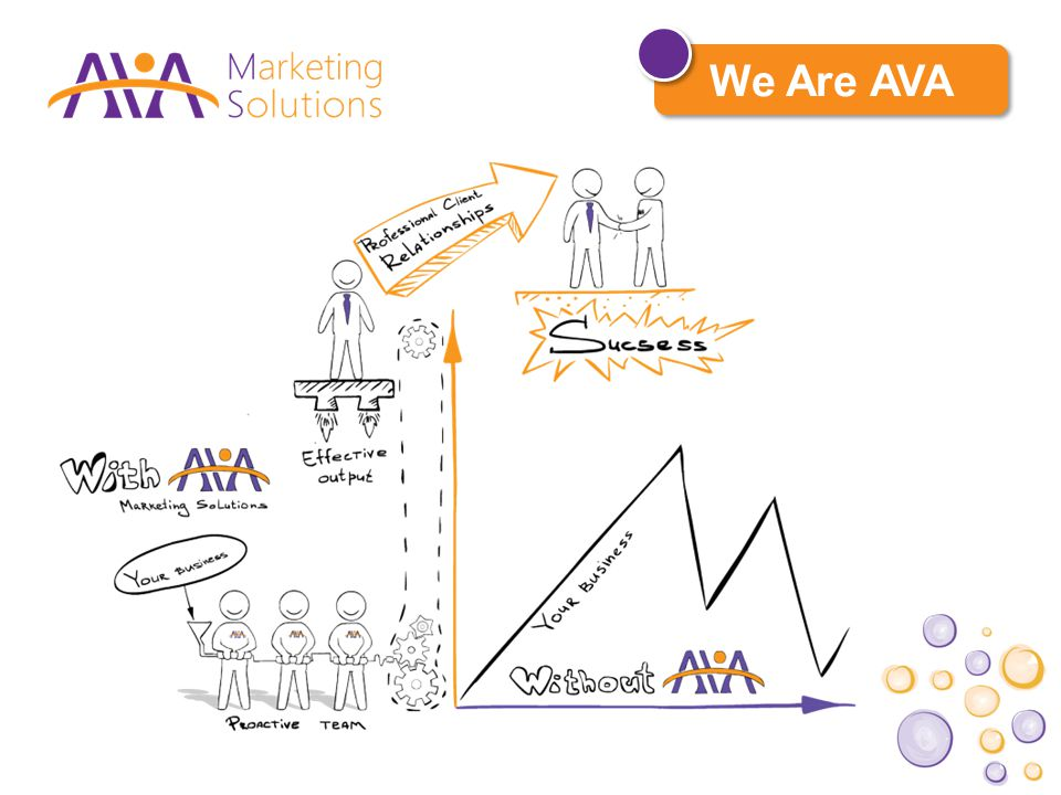 PR Services At AVA Marketing Solutions, we don't work with just anyone.