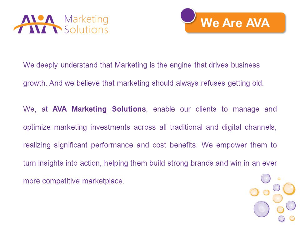 Our Vision To be the indispensable partner, creating business success and growth for our clients.