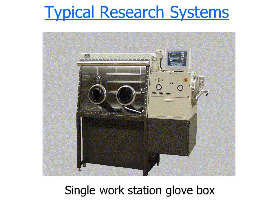 Typical Research Systems Single work station glove box