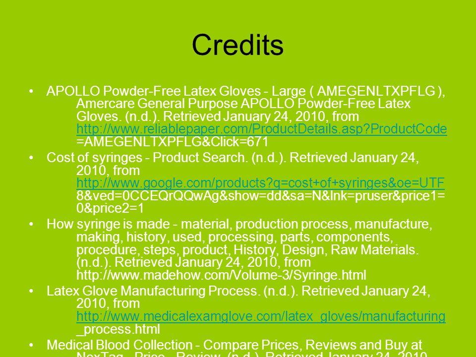 Credits APOLLO Powder-Free Latex Gloves - Large ( AMEGENLTXPFLG ), Amercare General Purpose APOLLO Powder-Free Latex Gloves. (n.d.). Retrieved January