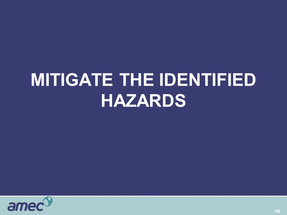 10 MITIGATE THE IDENTIFIED HAZARDS