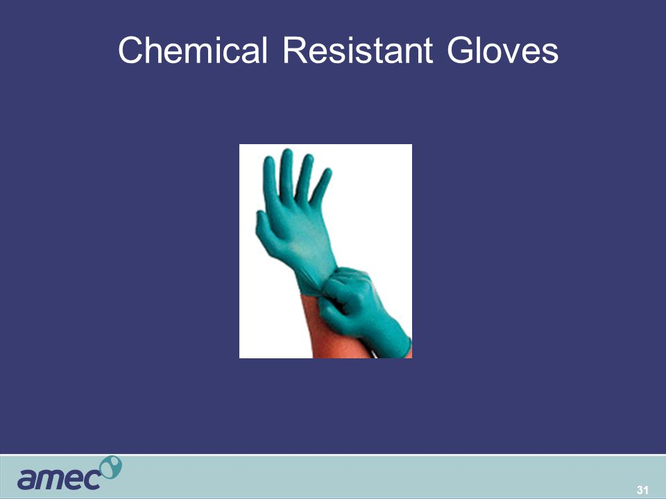 31 Chemical Resistant Gloves