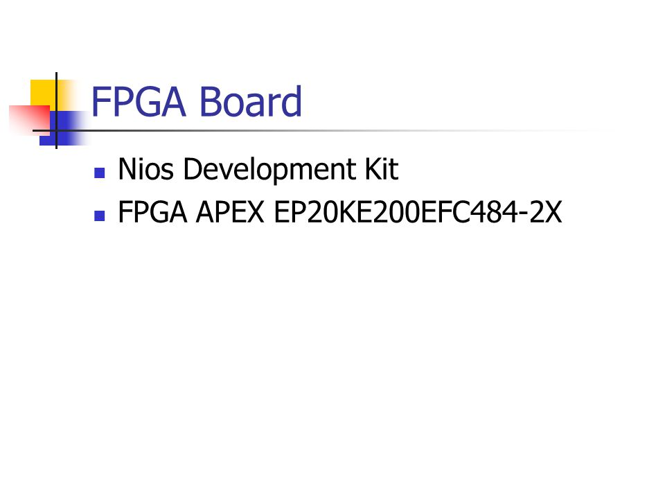 FPGA Board Nios Development Kit FPGA APEX EP20KE200EFC484-2X