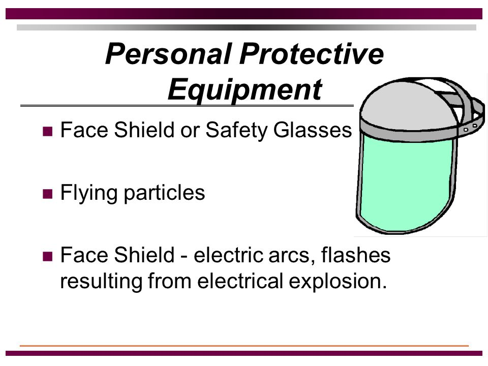 Personal Protective Equipment Class Of Gloves: (1)10,000 Volts - Type 1 (2)20,000 Volts - Type 2 (3)30,000 Volts - Type 3 (4)40,000 Volts - Type 4 (5) 1,000 Volts - Type 0 * (6) 500 Volts - Type 00 * * (leather glove required over the top)