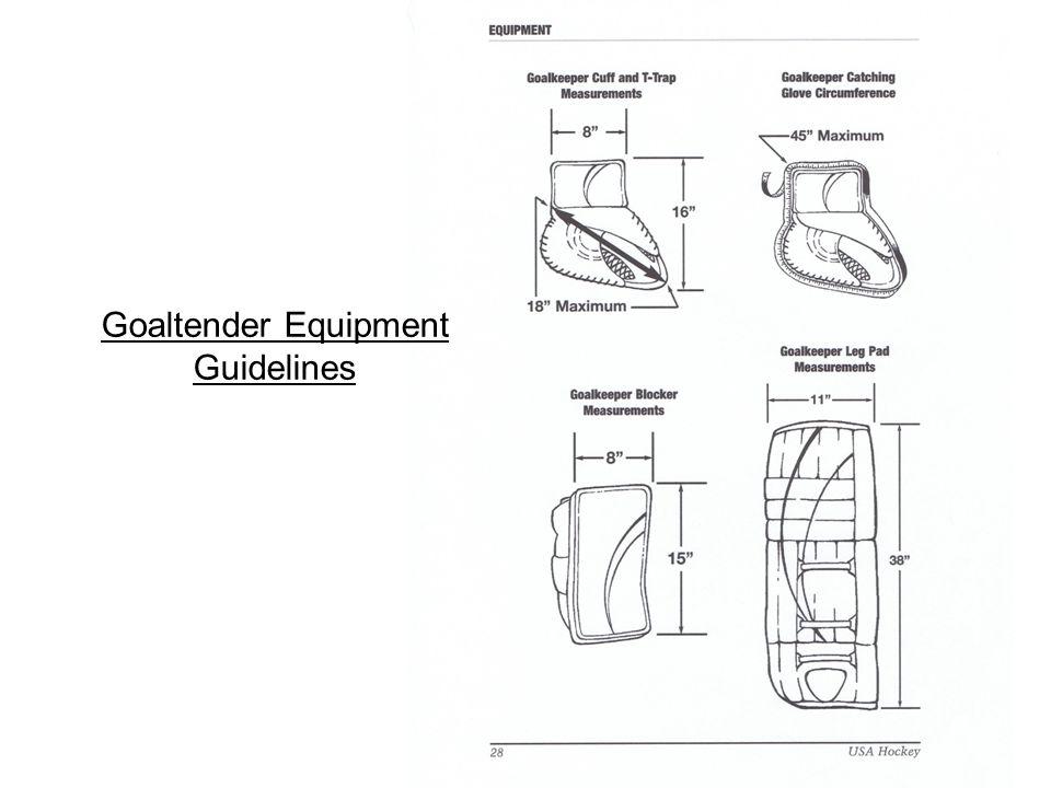 The Wockey Goalie Drill Book © CC wockey 13 Goaltender Equipment Guidelines