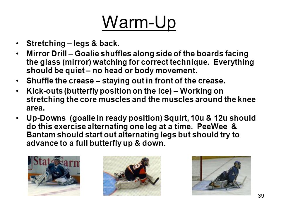 39 Warm-Up Stretching – legs & back.