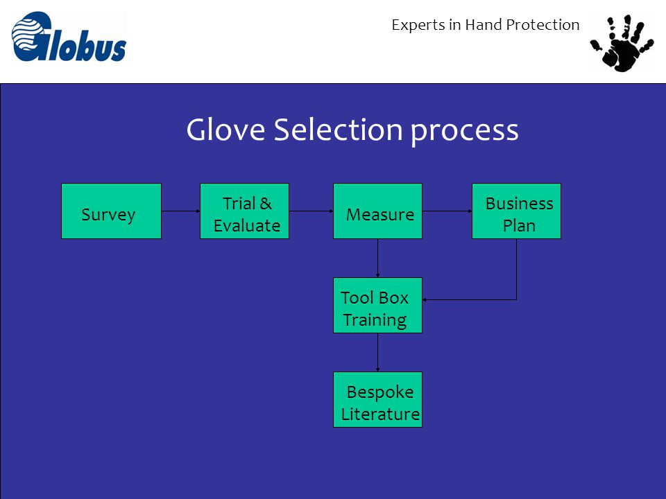 Experts in Hand Protection SAFETY PERFORMANCE COST USERACCEPTABILITY DEXTERITY DURABILITY SERVICE DELIVERY Selection Criteria