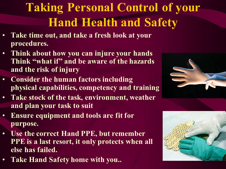 What can we do? Everyone in the field exposes their hands to risk of injury. We need to eliminate the hazard or reduce the risk to As Low As Reasonabl