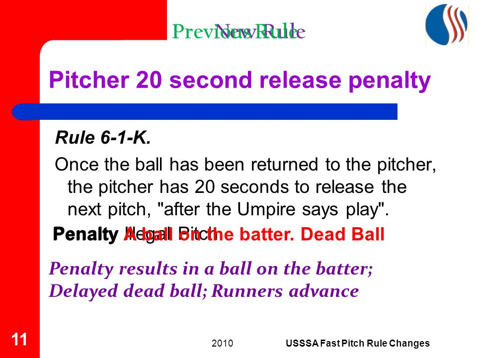Rule 6-1-K. Once the ball has been returned to the pitcher, the pitcher has 20 seconds to release the next pitch,