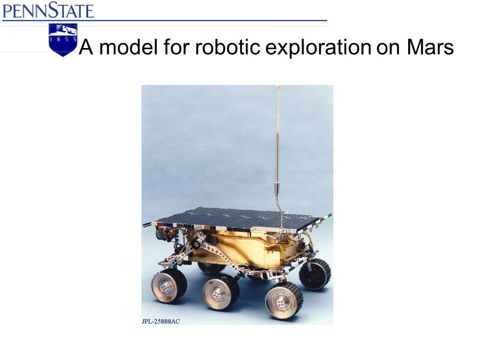 A model for robotic exploration on Mars