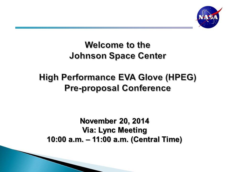 November 20, 2014 Via: Lync Meeting 10:00 a.m. – 11:00 a.m. (Central Time)