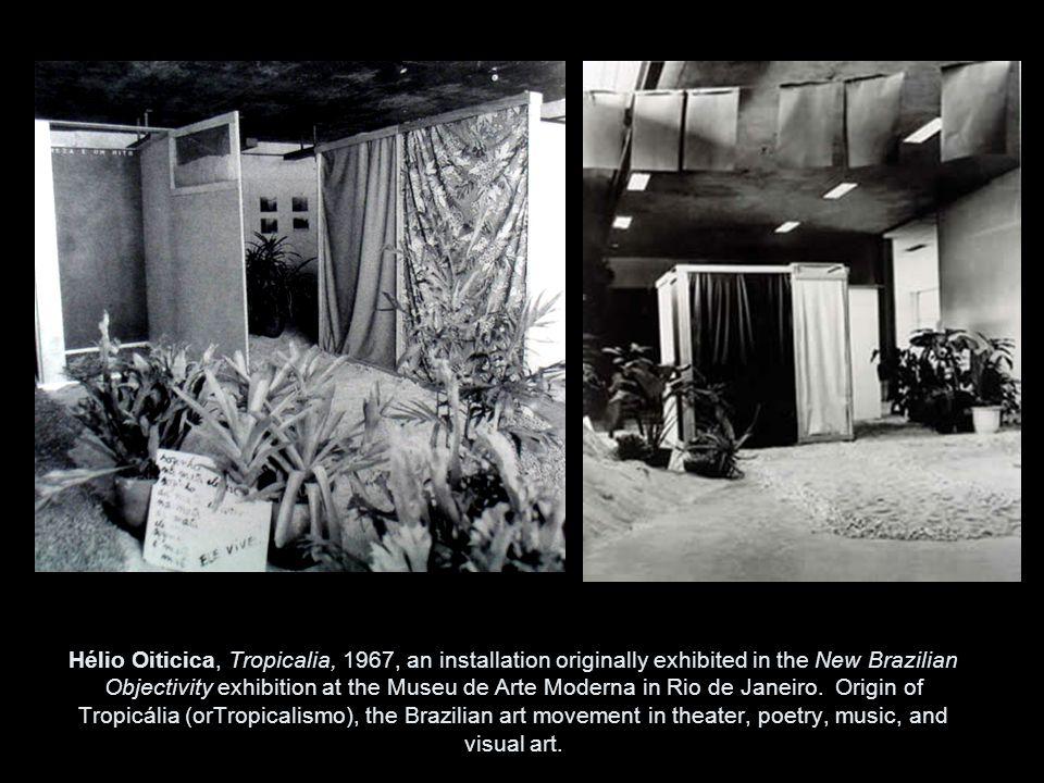 Hélio Oiticica, Tropicalia, 1967, an installation originally exhibited in the New Brazilian Objectivity exhibition at the Museu de Arte Moderna in Rio de Janeiro.