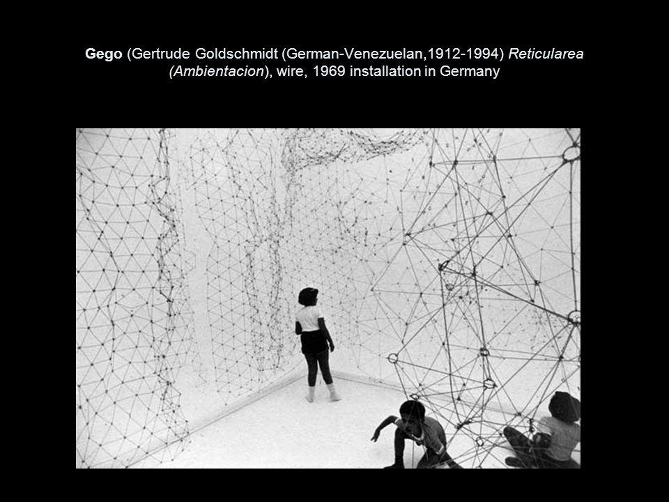 Gego (Gertrude Goldschmidt (German-Venezuelan,1912-1994) Reticularea (Ambientacion), wire, 1969 installation in Germany