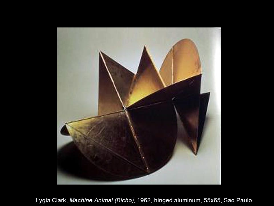 Lygia Clark, Machine Animal (Bicho), 1962, hinged aluminum, 55x65, Sao Paulo