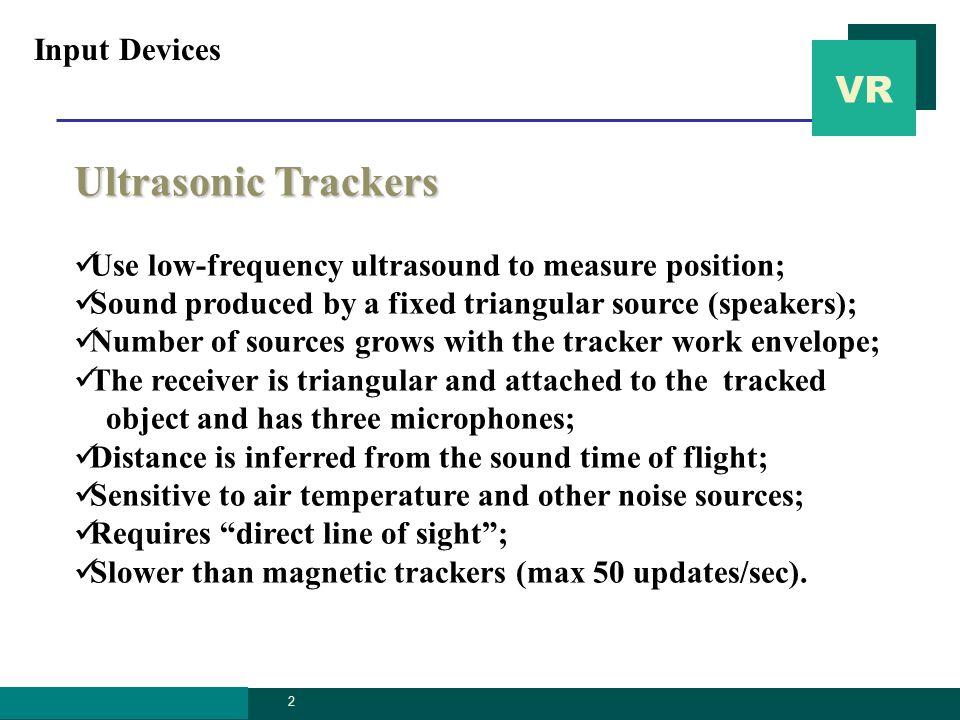VR graphics.ssu.ac. kr 3 Ultrasonic tracker (Logitech) Input Devices