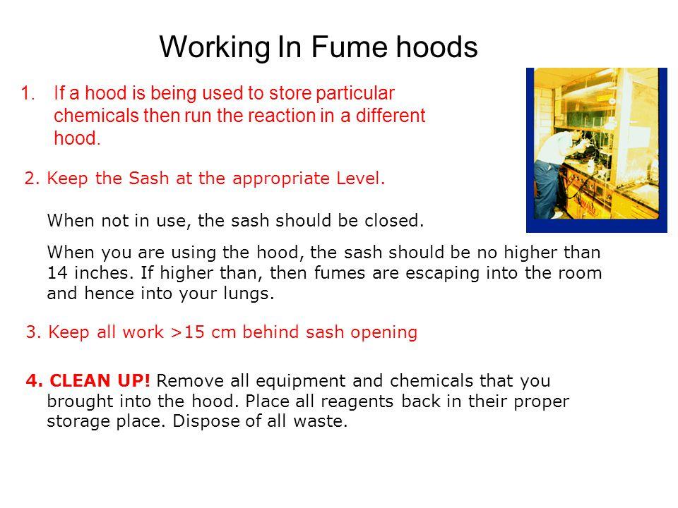 3. Keep all work >15 cm behind sash opening 4. CLEAN UP.