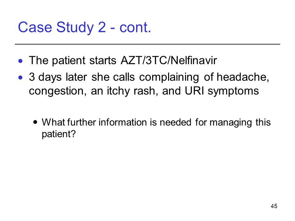 45 Case Study 2 - cont.