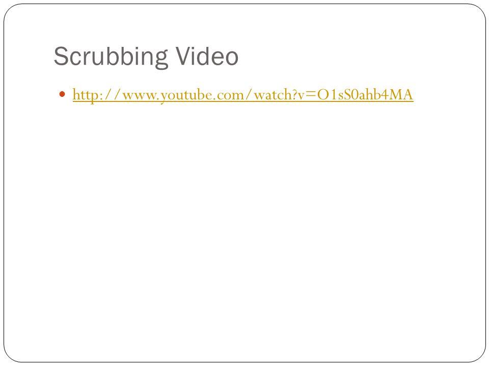 Scrubbing Video http://www.youtube.com/watch?v=O1sS0ahb4MA