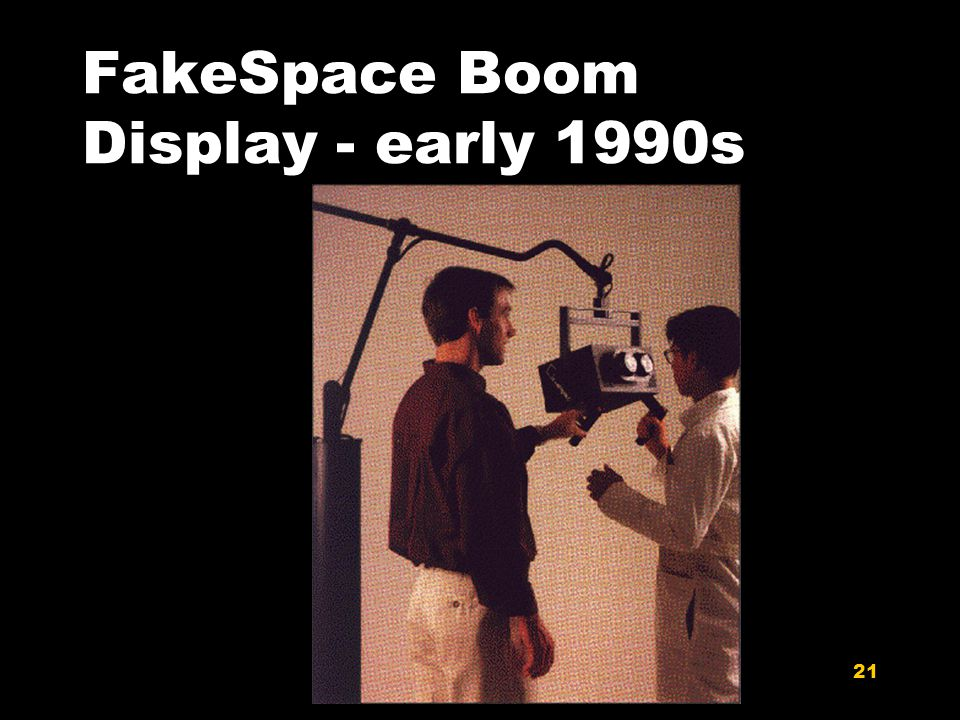 21 FakeSpace Boom Display - early 1990s