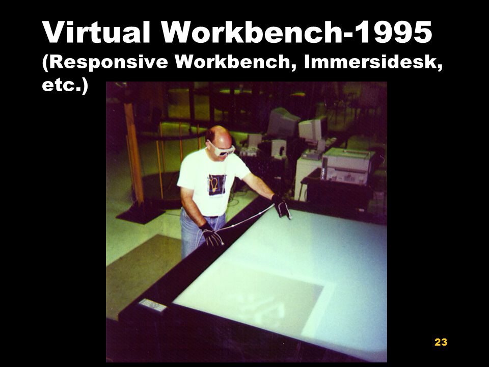 23 Virtual Workbench-1995 (Responsive Workbench, Immersidesk, etc.)