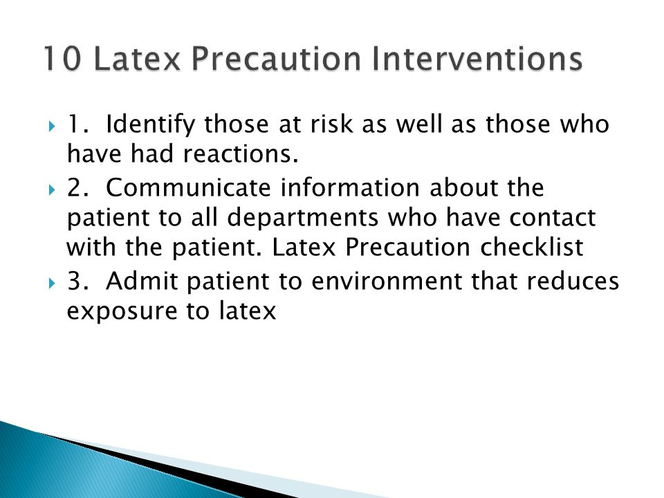  1.Identify those at risk as well as those who have had reactions.