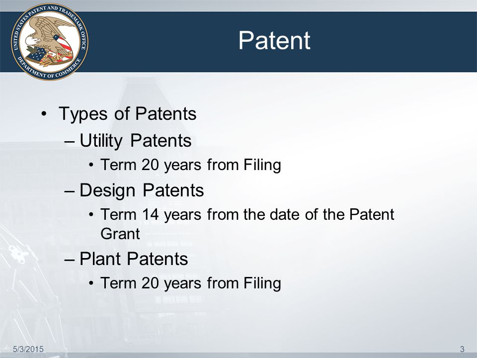 5/3/201514 Patentability Subject Matter Eligibility under 35USC 101 Which permits Patents to Any new and useful process, machine, manufacture or composition of matter, or any new useful improvement thereof Novelty and Loss of Patent Rights under 35USC102 Non-Obvious under 35USC103