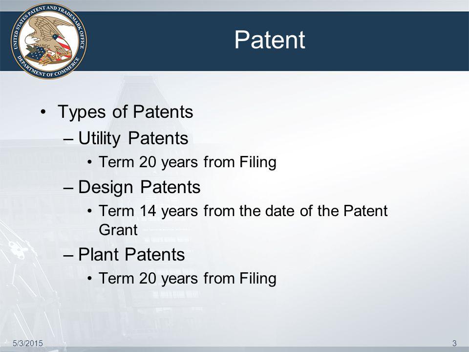 Utility Patent 5/3/20154