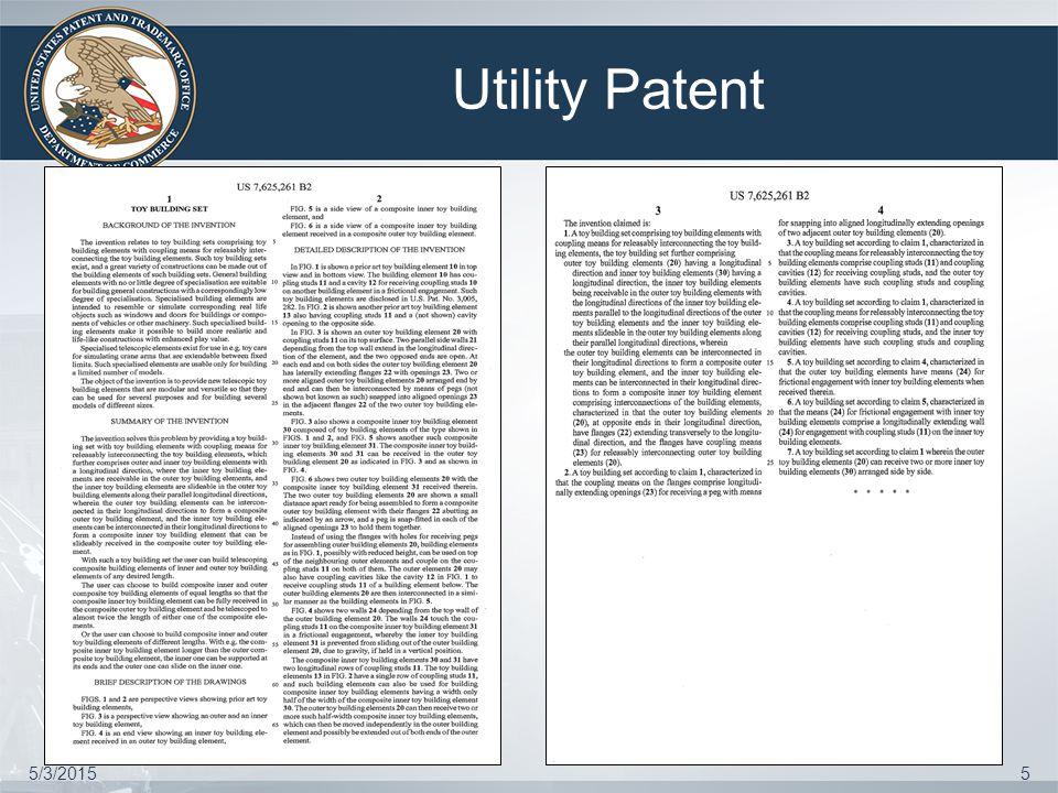 Design Patent 5/3/20156