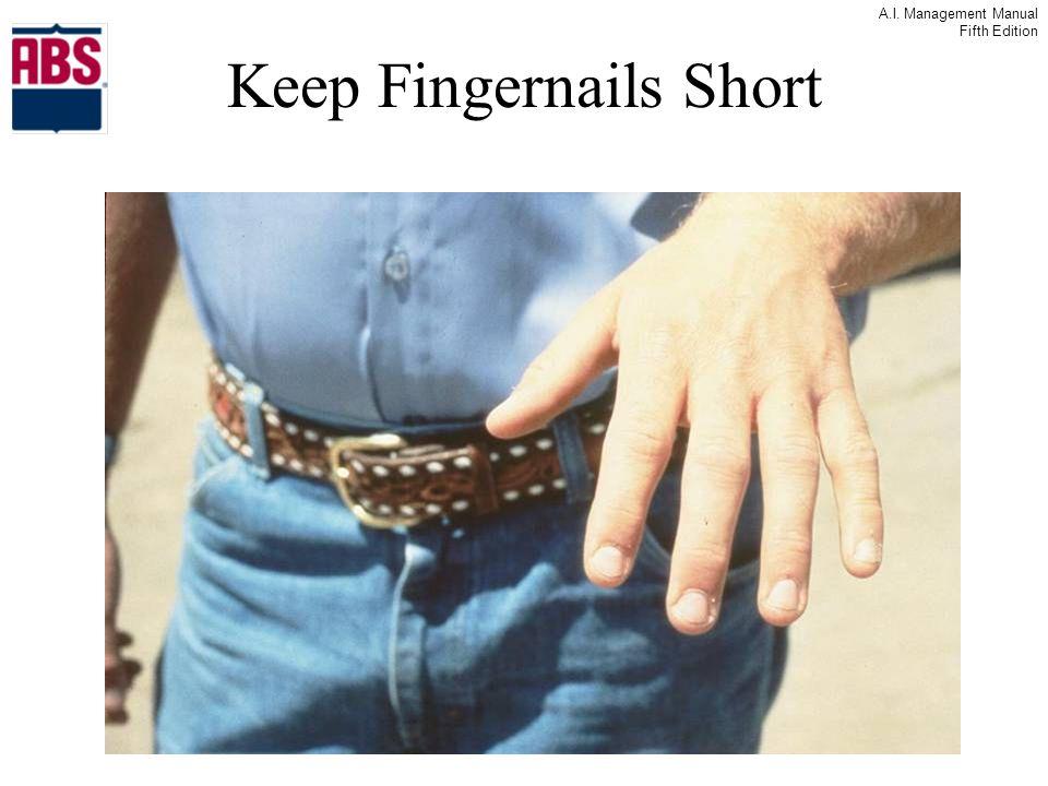 A.I. Management Manual Fifth Edition Keep Fingernails Short
