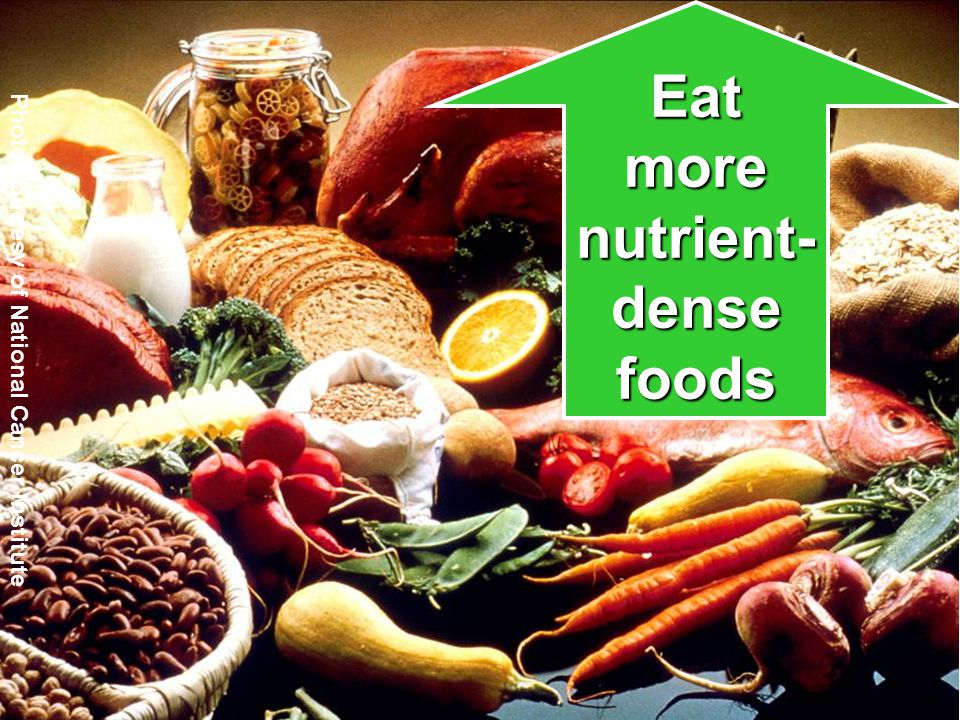 34 34 Photo courtesy of National Cancer Institute Eat more nutrient- dense foods