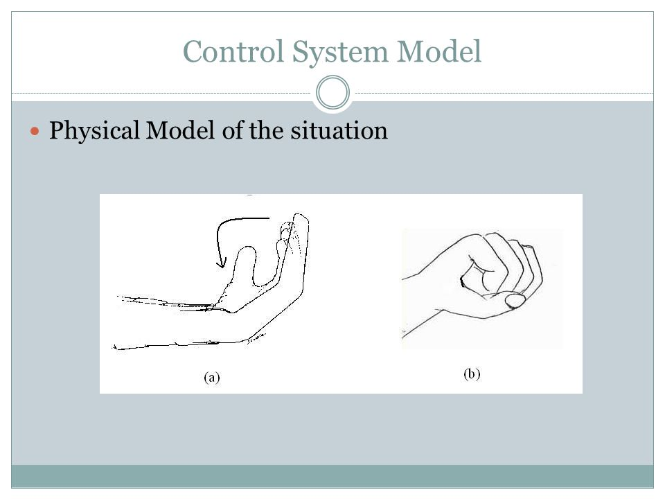 Control System Model Physical Model of the situation