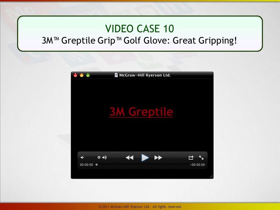 VIDEO CASE 10 3M™ Greptile Grip™ Golf Glove: Great Gripping.