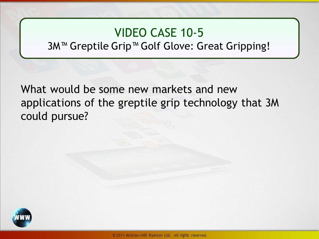 VIDEO CASE 10-5 3M™ Greptile Grip™ Golf Glove: Great Gripping.