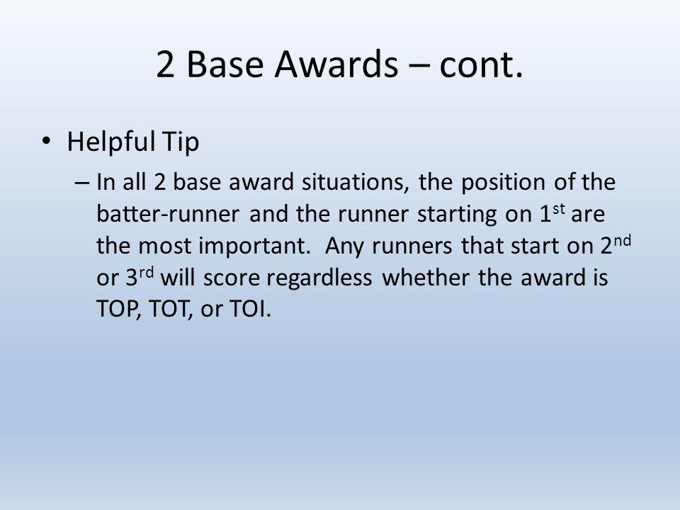 2 Base Awards – cont.