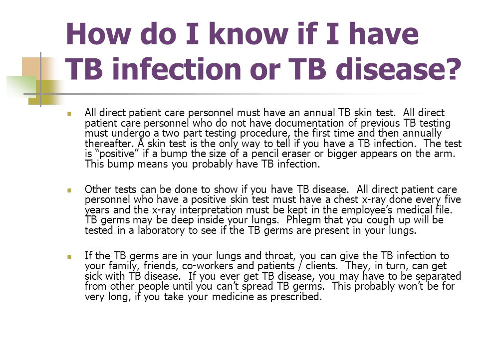 How do I know if I have TB infection or TB disease.