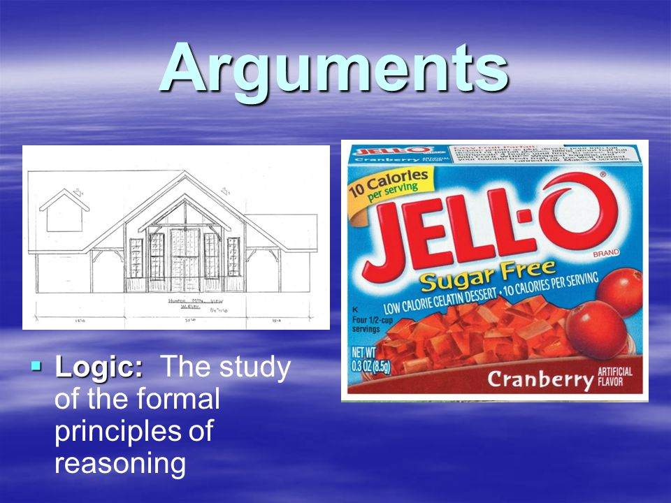 Arguments  Deductive Argument: the truth of the premises guarantees the truth of the conclusion