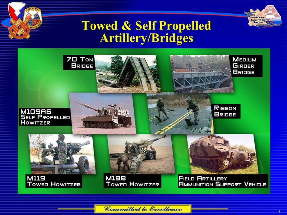 7 Towed & Self Propelled Artillery/Bridges