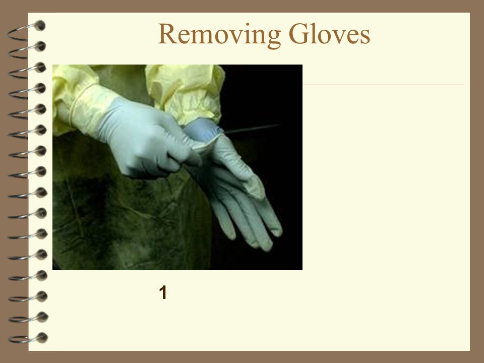 Removing Gloves 1