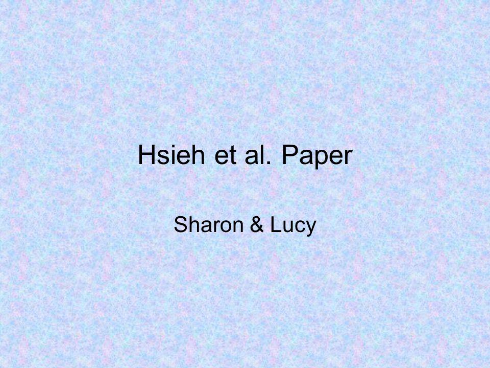Hsieh et al. Paper Sharon & Lucy