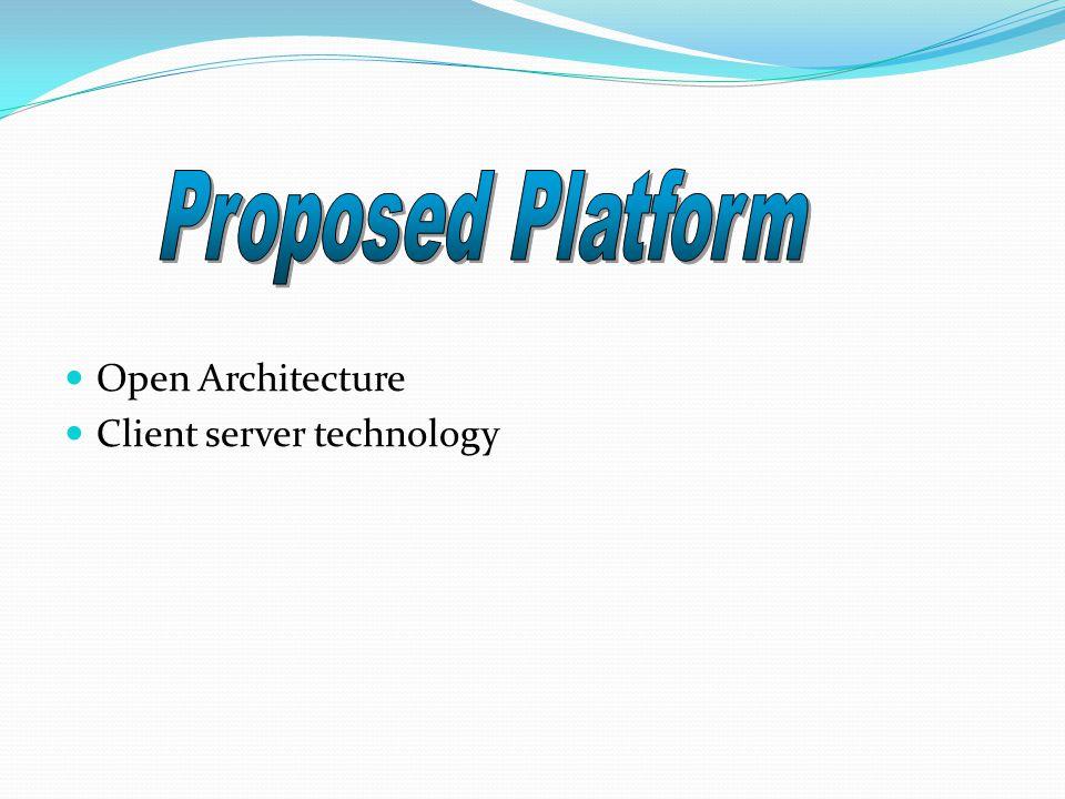 Open Architecture Client server technology