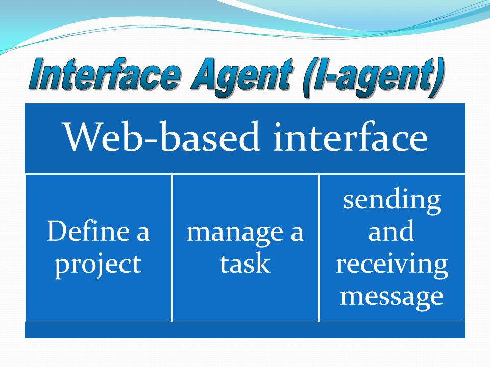 Web-based interface Define a project manage a task sending and receiving message