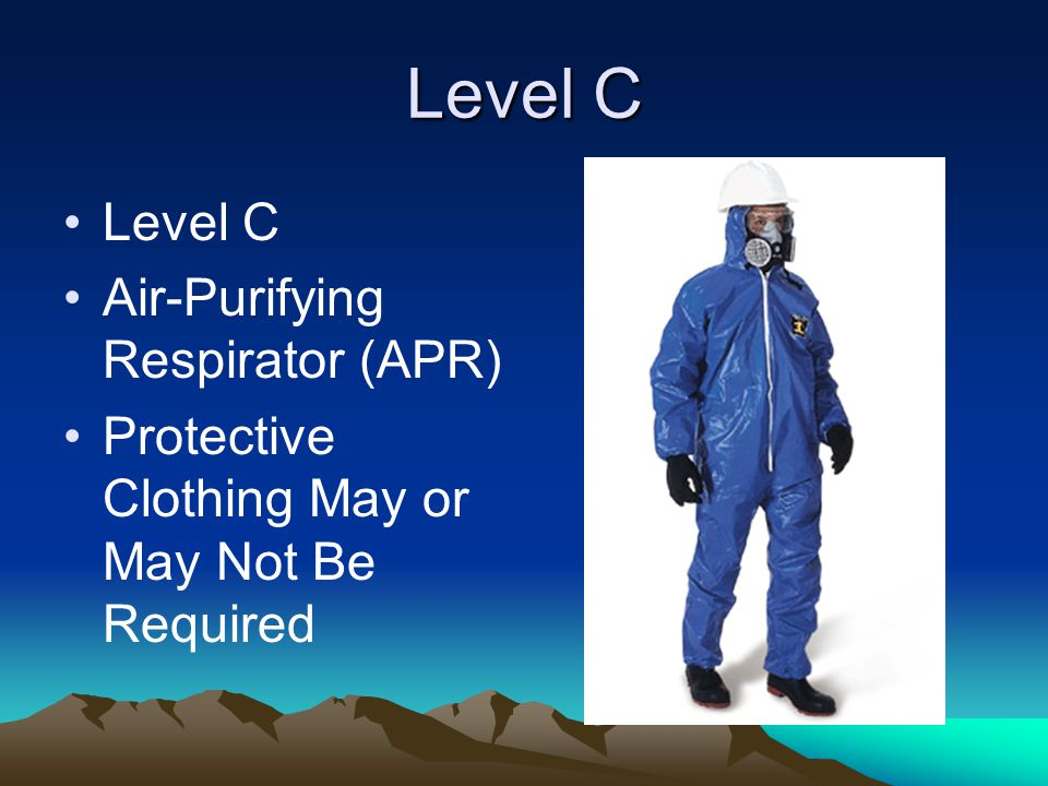 Level C Air-Purifying Respirator (APR) Protective Clothing May or May Not Be Required