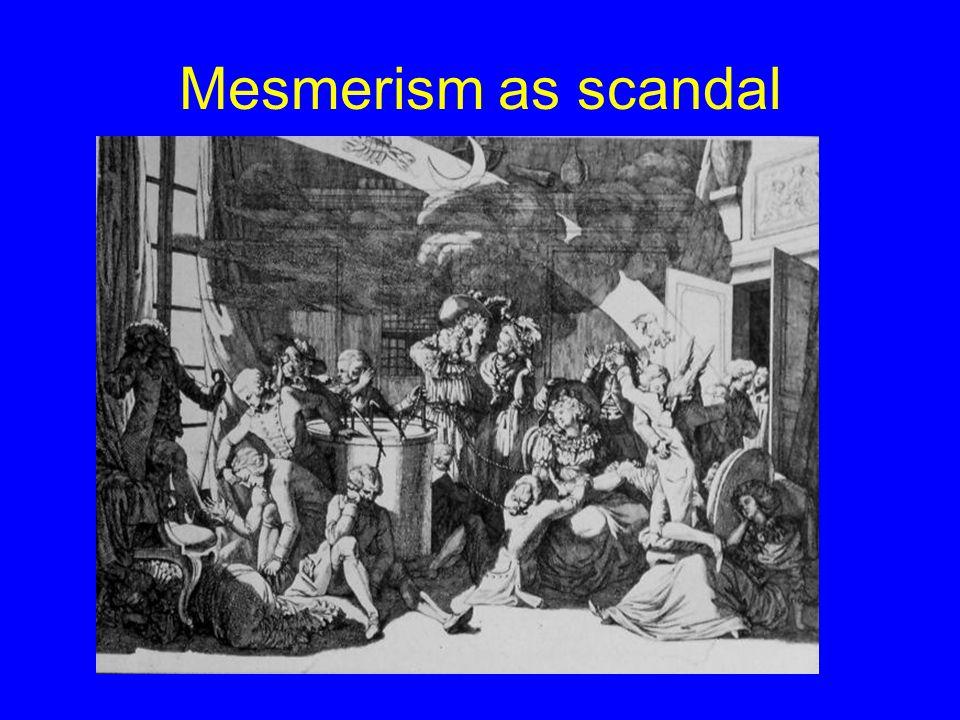 Mesmerism as scandal
