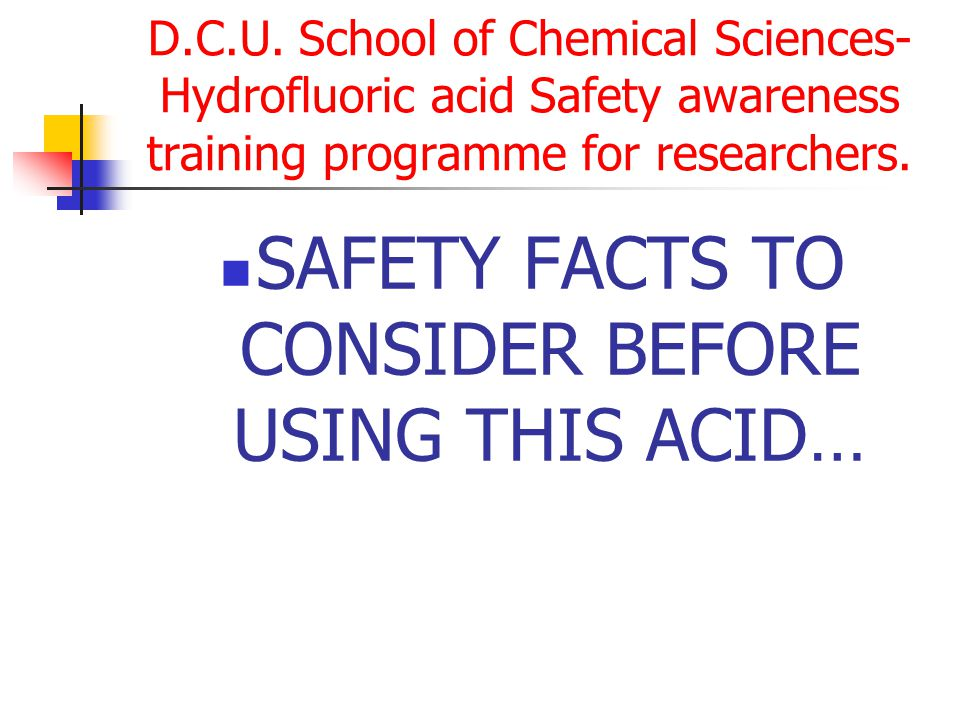 SAFETY FACTS TO CONSIDER BEFORE USING THIS ACID…