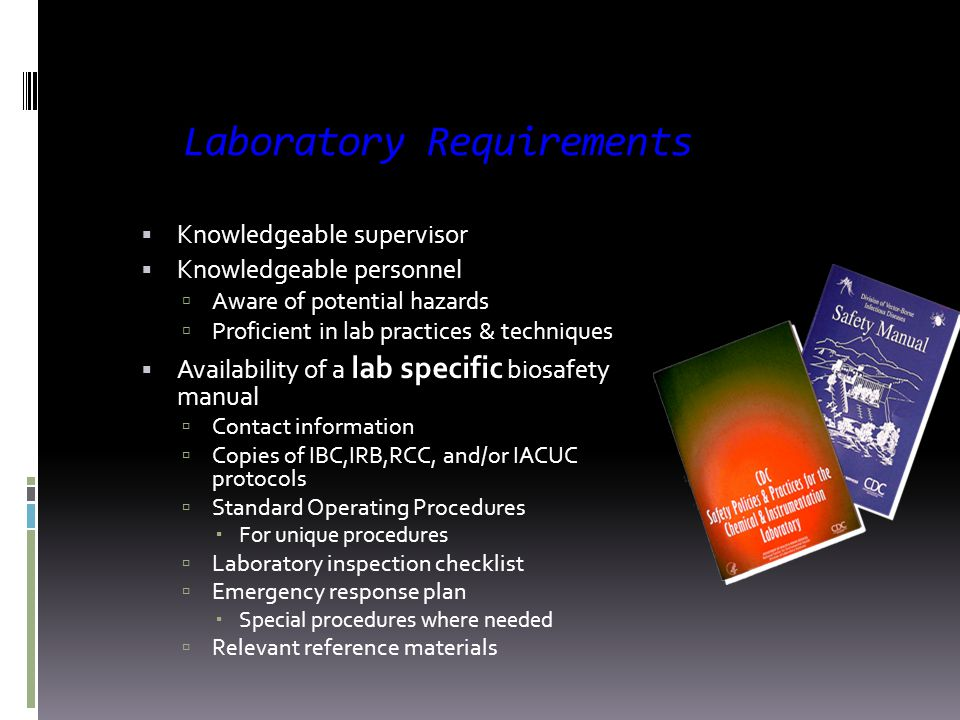 Definition Biosafety The application of combinations of laboratory practice and procedure, laboratory facilities, and safety equipment when working wi